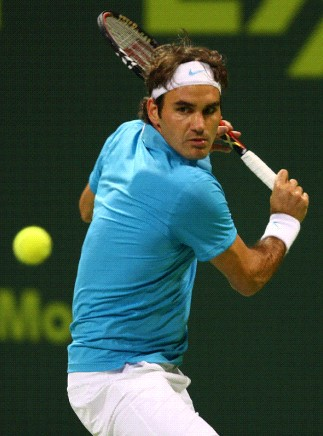 Federer's technically flawless backhand