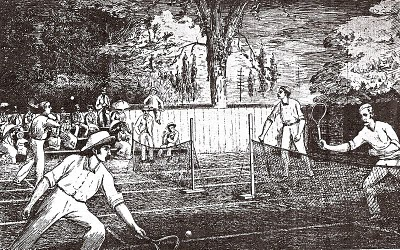 The early stages of the game of Tennis!
